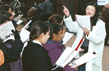 Grace Conducting Choir 1993